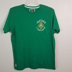 EUC Retro Irish green tee size L